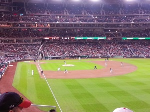 Game time at Nationals Park