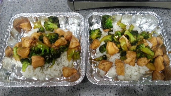 Stir-fry Chicken, Broccoli and Rice