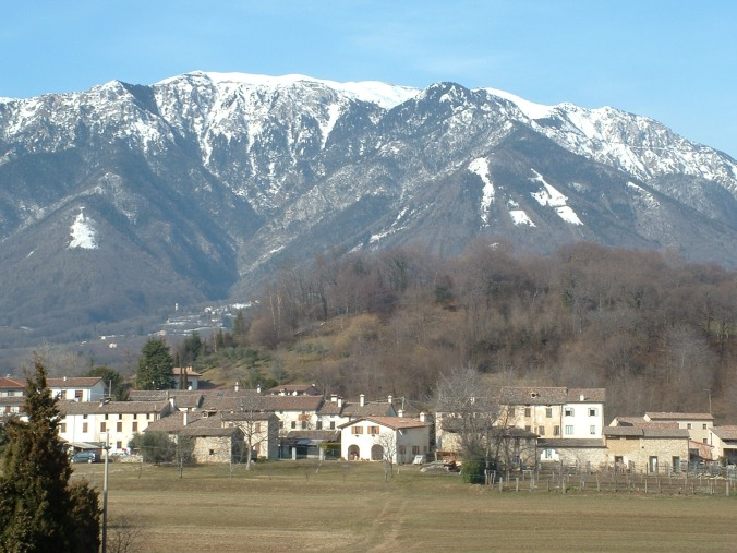 Last, but certainly not least, the view from our dorm room of Mt. Grappa in Paderno del Grappa!!!