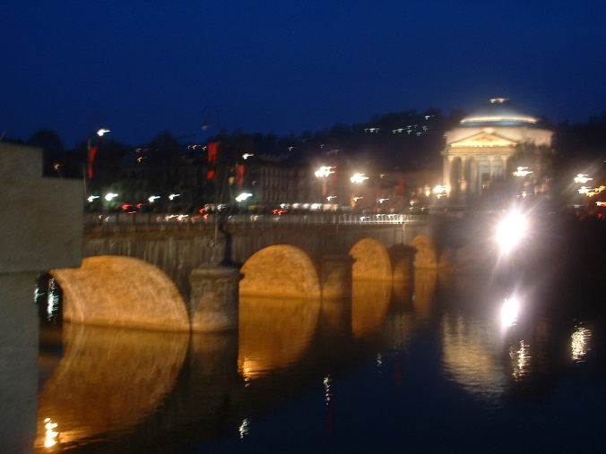City lights in Torino (Turin) during the 2006 Winter Olympics