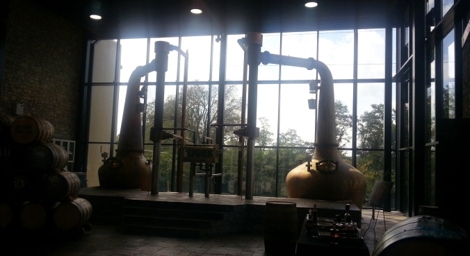 Copper pot stills at Town Branch Distillery
