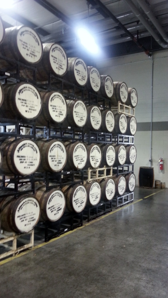 Kentucky Bourbon straight from the source, aging in fresh barrels!!
